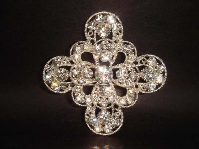 Bridal cake topper Crystal Rhinestone Brooch pin PI140