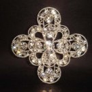 Bridal cake topper Crystal Rhinestone Brooch pin PI140