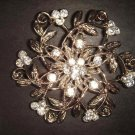 Bridal Rhinestone vintage style cake Brooch pin Pi197
