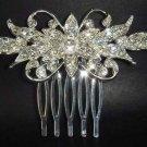 New Bridal crystal Rhinestone Hair tiara Comb RB73