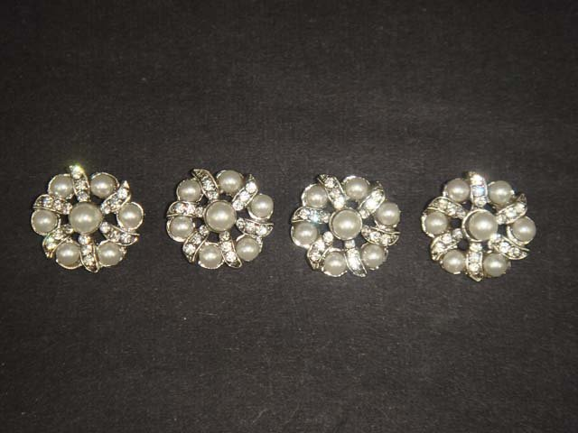 4 sewing Crystal  Rhinestone clasp hook button BN15