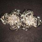 Bridal flower Rhinestone clasp hook buckle button BU39
