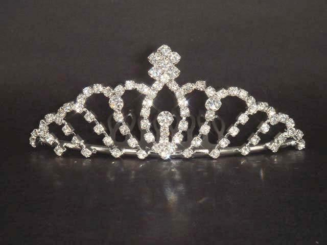 Bridal Rhinestone headpiece Hair crown Comb tiara C37