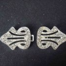 Bridal vintage style Rhinestone clasp hook button BU30
