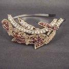 Bridal crystal bead Rhinestone tiara Headband HR132