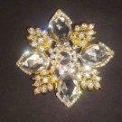 Bridal Flower Vintage style Rhinestone Brooch pin PI75