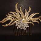 Bridal Vintage style Rhinestone Flower crystal Headpiece hair tiara comb RB326