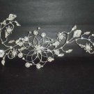 Bridal Rhinestone Headpiece headdress Flower leaf Crystal Hair tiara RB272