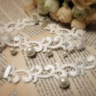 Gothic sexy faux pearl Lolita white bangle bracelet necklace choker NR255