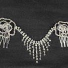Bridal Rhinestone crystal Flower Rose Headpiece Headwear tiara Comb RB502