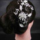 Bridal Rhinestone Faux Pearl Headpiece Headdress Hair tiara Comb RB281