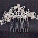 Bridal Faux pearl Headwear rhinestone headpiece hair tiara comb RB515