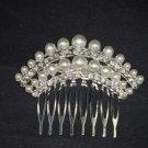 Bridal Rhinestone Faux Pearl Headpiece crystal Hair Tiara Comb RB529