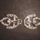 Bridal leave Rhinestone clasp hook buckle button BU43