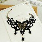Gothic Lolita Crochet Sexy Butterfly Black bracelet BR227