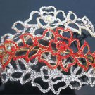 Bridal Flower Rhinestone headpiece headdress crystal crown Hair tiara HR168