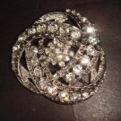 Bridal Vintage style cake topper scarf decorate Rhinestone Brooch pin PI297
