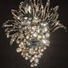 Bridal cake dress decoration crystal Rhinestone Brooch pin PI464