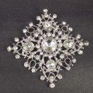 Bridal Vintage style Crystal sqaure rhombus Rhinestone Brooch pin PI546