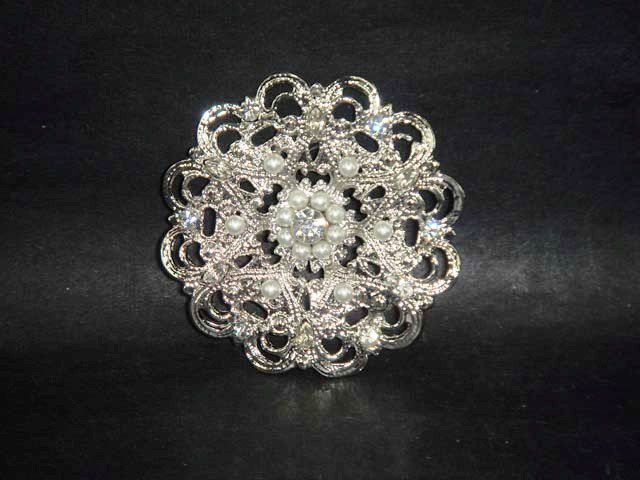 Bridal crystal cake topper Rhinestone Brooch pin PI502