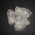 Bridal Flower cake topper Rhinestone Brooch pin PI493