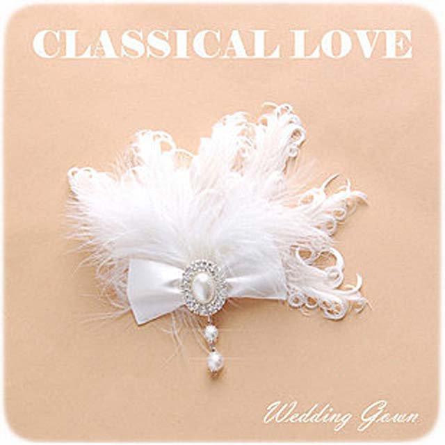 Bridal Feather Bow Fascinator rhinestone clip BA158