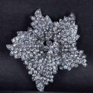 Bridal Rhinestone Flower crystal scarf cake dress decoration Brooch pin PI554