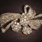 Bridal Crystal Bow bling Rhinestone Brooch pin Pi199