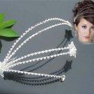 Bridal Rhinestone crystal 2 stars headpiece Hair headdress Tiara HR174