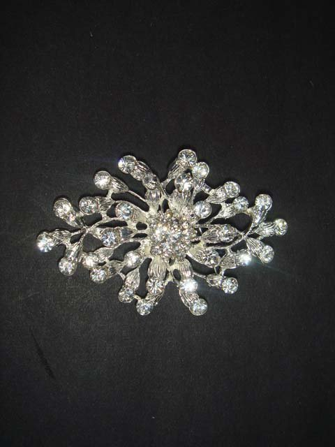 Bridal crystal dress cake Rhinestone Brooch pin PI474