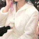 Bridal Off white Faux Fur Shrug Shawl Cape Wrap BOLERO SF142
