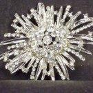 Bridal Cake scarf decoration Vintage style Crystal Rhinestone Brooch pin PI561
