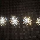 4 pcs Repair sew crystal Rhinestone repair dress button BN38