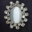 Bridal Vintage style Faux eye cat crystal Rhinestone brooch pin Pi306