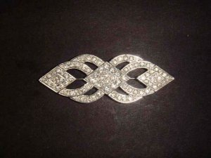 Bridal dress scarf decoration vintage style Rhinestone Brooch pin  PI473
