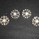 4 sew Crystal Clear Rhinestone clasp hook button BN18