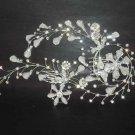 Bridal Rhinestone crystal flower Headpiece Hedadress Hair tiara Comb RB338