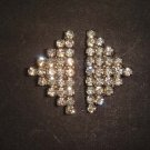 Bridal rhombus Rhinestone clasp hook buckle button BU37