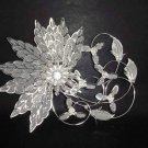 Bridal Crystal Rhinestone Flower Headpiece Hair tiara Comb RB249
