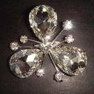 Bridal Bling Vintage style crystal plastic Rhinestone Brooch pin PI300