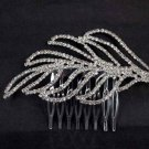 Bridal Rhinestone Crystal dangle Leave headpiece Headwear Hair tiara Comb RB509