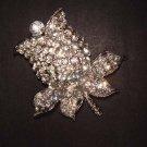 Bridal Flower Rose crystal Rhinestone Brooch pin PI475