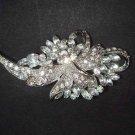 Bridal Crystal vintage style scarf prom dress Rhinestone Brooch pin PI505