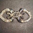Vintage style Rhinestone heart clasp dress buckle button BU58