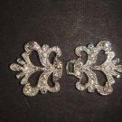 Vintage style Rhinestone clasp dress buckle button BU51