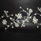 Bridal Crystal Rhinestone Headpiece headdress Flower Hair tiara Comb RB60