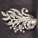 Bridal Cake scarf decoration Vintage style Crystal Rhinestone Brooch pin PI560