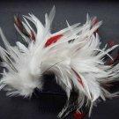 Bridal White Headpiece Headdress Peacock Feather Hair tiara Comb RB465