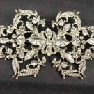 Bridal bling large crystal Vintage style Rhinestone Brooch pin PI510