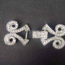 Dress Crystal Rhinestone clasp hook buckle button BU12